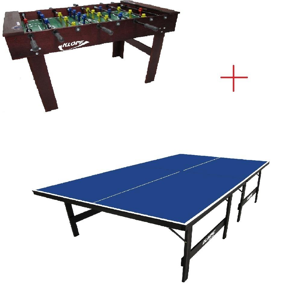 afbbefb5d0 Kit Salão De Jogos Pebolim + Tênis De Mesa Klopf - R  1.099