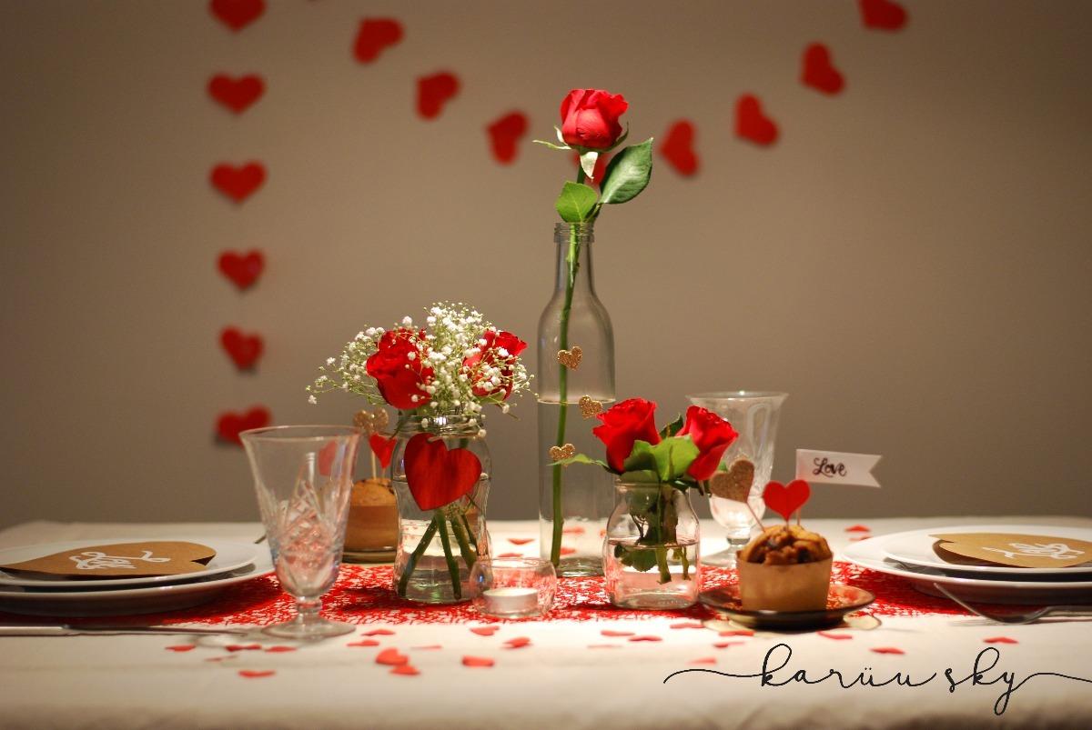 Kit San Valentin, Cena Romantica, Combo Decoracion Mesa - $ 480,00 ...