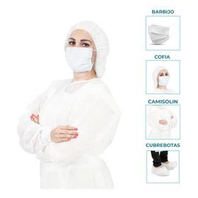 Kit Sanitario Barbijo Cofia Camisolin Cubrebota