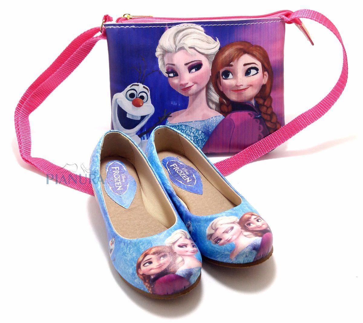 dbf72e6082 kit sapatilha infantil frozen disney elsa anna com bolsa. Carregando zoom.