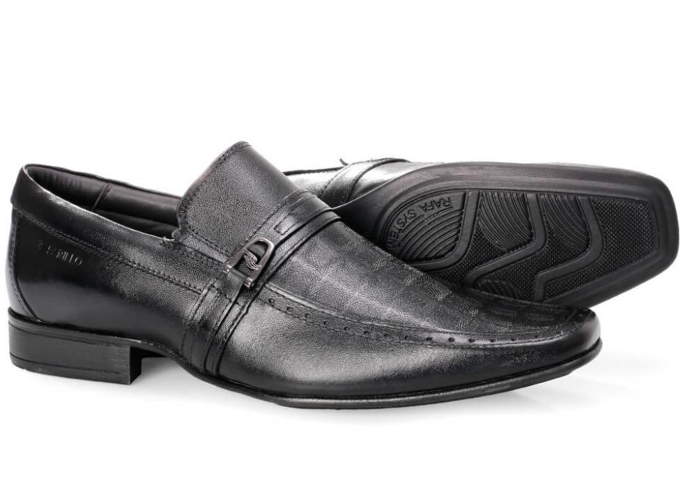 d391b4602 Kit Sapato Couro Rafarillo 6601 Preto+cinto+meia+calçadeira - R$ 179 ...
