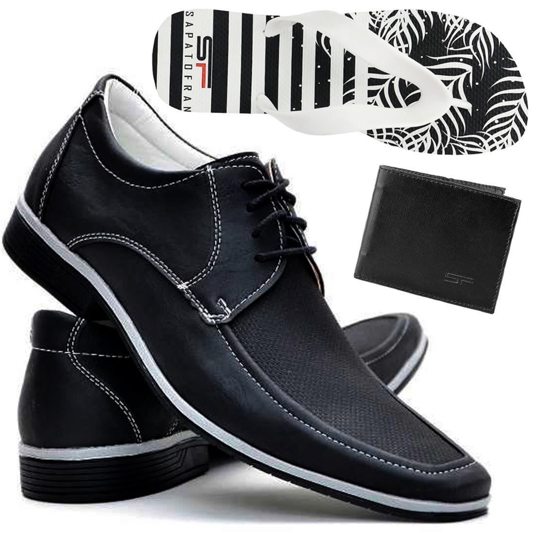 d44a4dc81 kit sapato social masculino bico fino + brindes 12x sem juro. Carregando  zoom.