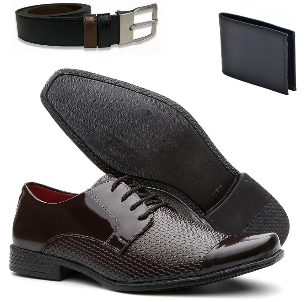 060e8ed1f1 kit sapato social masculino + carteira + cinto vr. Carregando zoom.