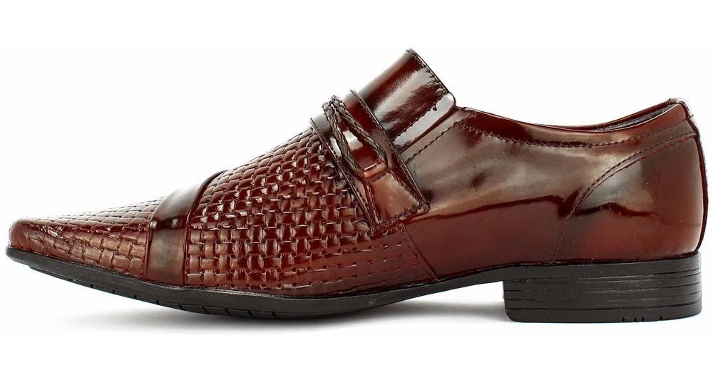 2312241277 kit sapato social masculino couro verniz + cinto + carteira. Carregando zoom .