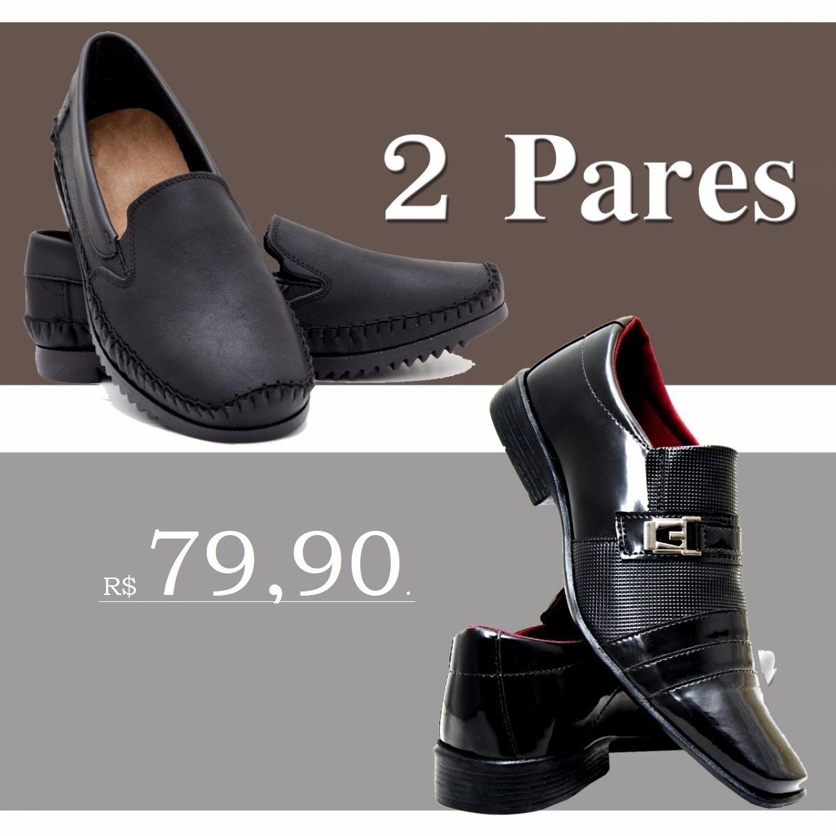 afde57144 kit sapato social masculino verniz+sapatilha couro legítimo. Carregando  zoom.