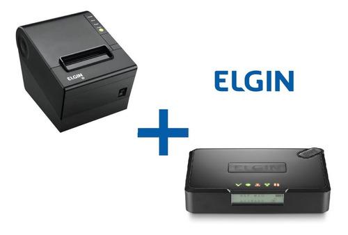 kit sat fiscal elgin smart + impressora i9 usb elgin guilhotina