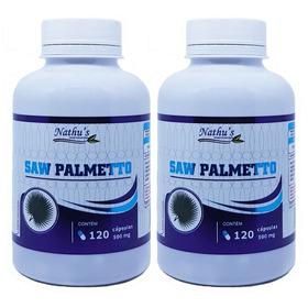 Kit Saw Palmetto Natural Para Próstata 240 Capsulas