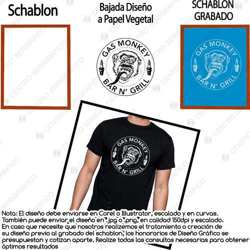 kit schablon 30x40 47# + manigueta c/goma 20cm + grabado
