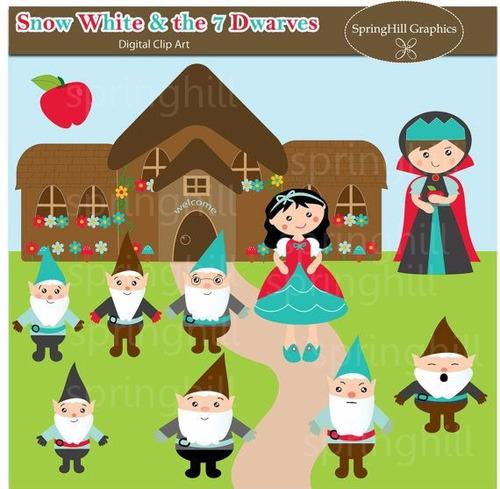 kit scrapbook digita princesa branca de neve clipart cod 7