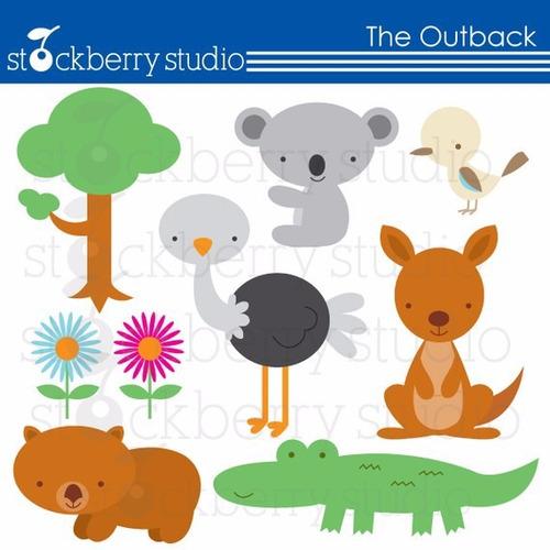 kit scrapbook digital animais da selva imagens clipart cod11