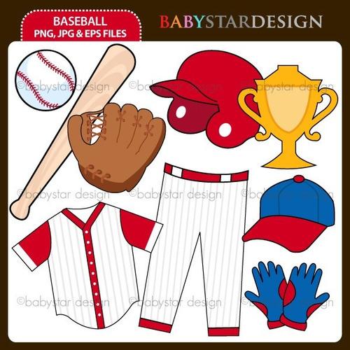 kit scrapbook digital baseball imagens clipart