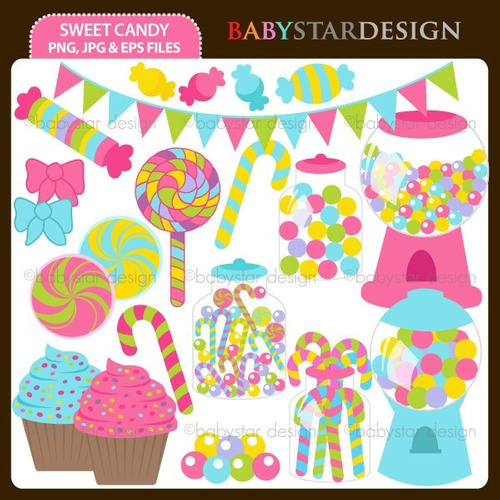 kit scrapbook digital candy bar imagens clipart cod 3