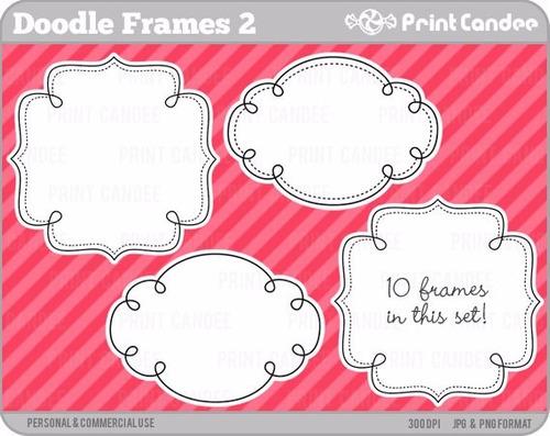 kit scrapbook digital frames molduras quadros labels cod 23