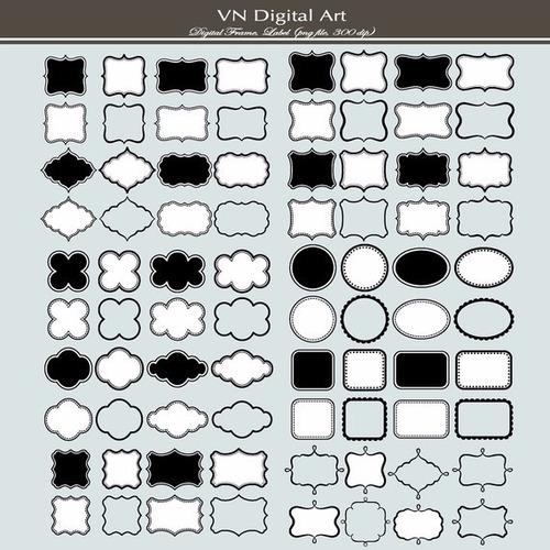 kit scrapbook digital frames molduras quadros labels cod 25