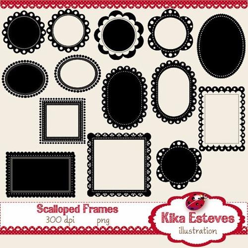 kit scrapbook digital frames molduras quadros labels cod 66