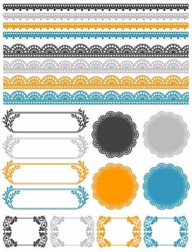 kit scrapbook digital frames molduras quadros labels cod 70