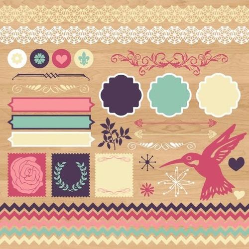 kit scrapbook digital frames molduras quadros labels cod 71