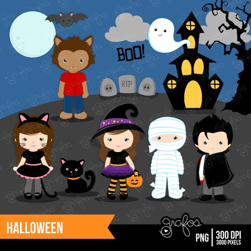 kit scrapbook digital halloween imagens clipart cod 19