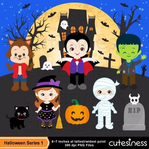 kit scrapbook digital halloween imagens clipart cod 23