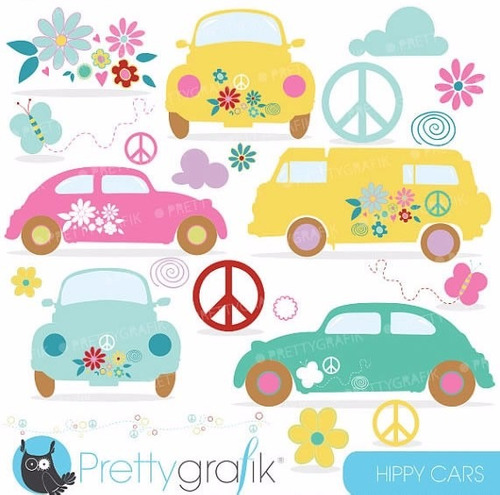 kit scrapbook digital hippie paz imagens clipart