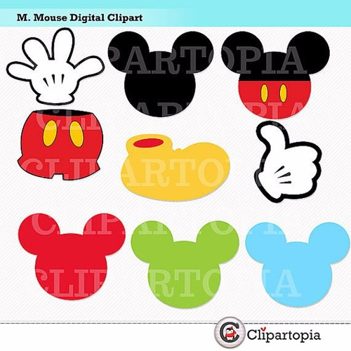 kit scrapbook digital mickey mouse imagens clipart