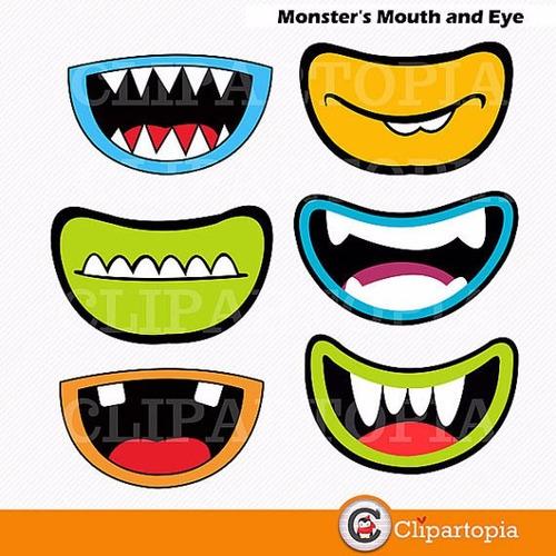 kit scrapbook digital monstros imagens clipart