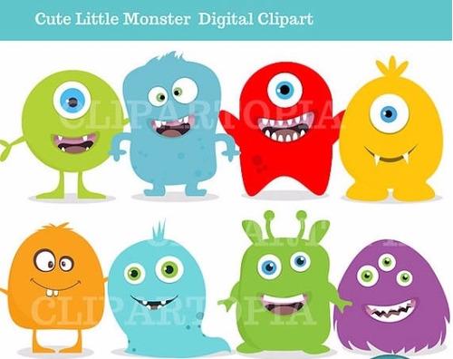 kit scrapbook digital monstros imagens clipart cod 2
