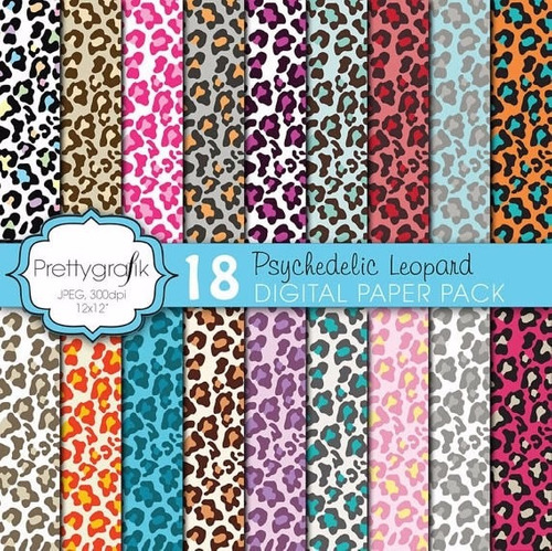 kit scrapbook digital papeis animal print cod 7