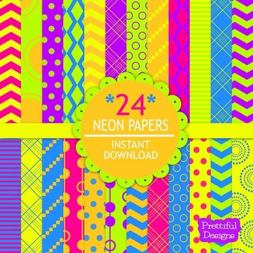 kit scrapbook digital papeis coloridos cod 26