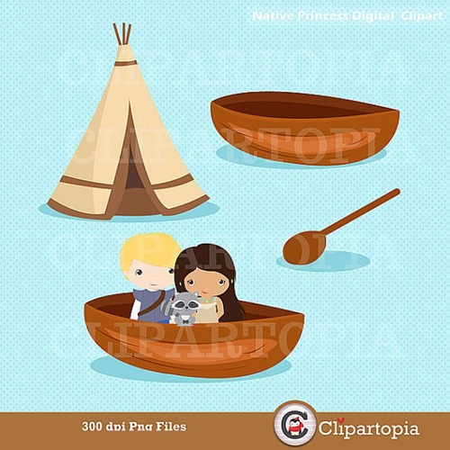 kit scrapbook digital princesa pocahontas clipart imagens