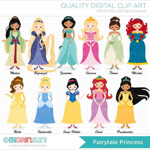 kit scrapbook digital princesas disney imagens clipart cod26