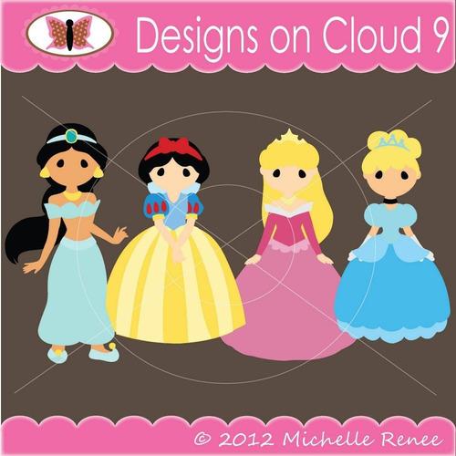 kit scrapbook digital princesas disney imagens clipart cod38