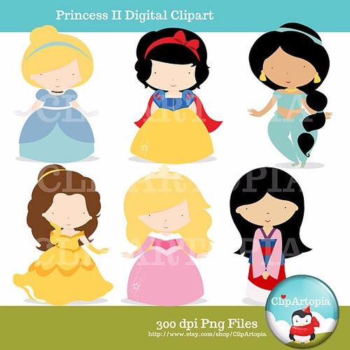 kit scrapbook digital princesas disney imagens clipart cod41