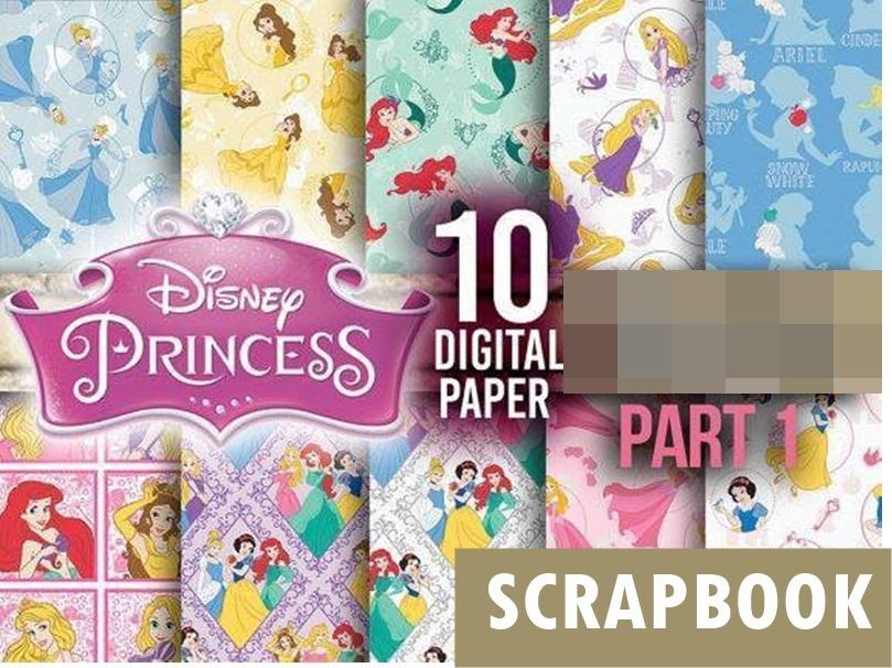 kit scrapbook digital princesas disney + pacotão silhouette. Carregando  zoom. b3d5303ba3