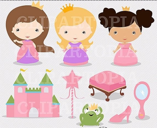kit scrapbook digital princesas imagens clipart cod 2