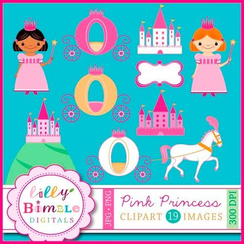 kit scrapbook digital princesas imagens clipart cod 39