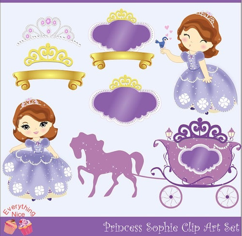 kit scrapbook digital princesinha sofia imagens clipart cod2