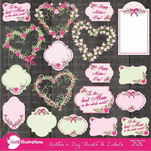 kit scrapbook digital shabby chic imagens clipart cod 11