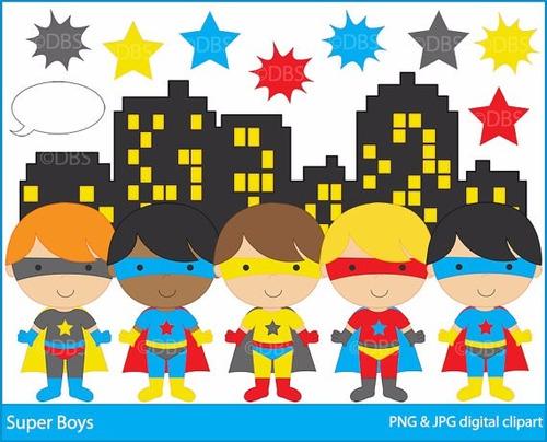 kit scrapbook digital super heroes super herois cod 16