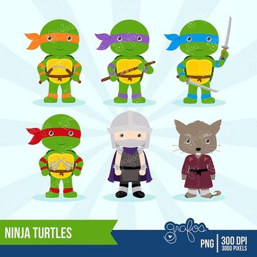 kit scrapbook digital tartarugas ninja imagens clipart cod 2