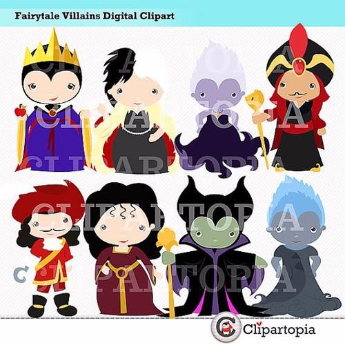 kit scrapbook digital villains disney clipart imagens