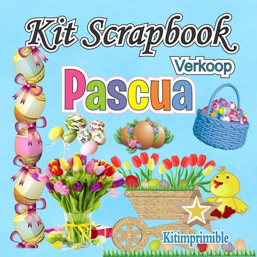 kit scrapbook pascua imagenes png, frames cliparts scrap