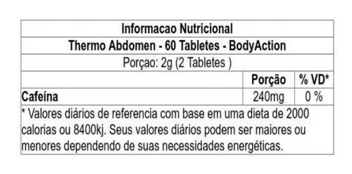 kit seca abdomen - day and night  120 caps - bodyaction