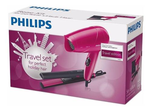 kit secador de pelo y planchita philips hp8644 con funda
