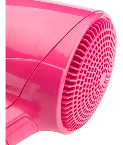 kit secadora cabello plegable viaje c/boquilla + cepillo