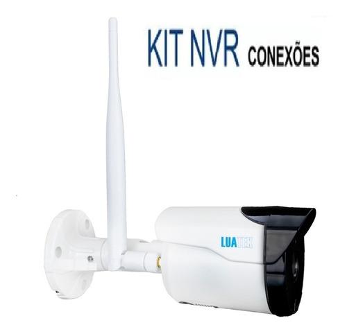 kit segurança residencial 4 câmeras wifi infravermelho 720p