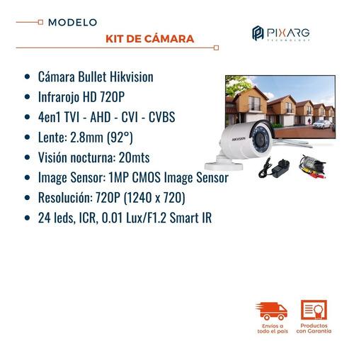 kit seguridad camara infrarroja listo p/ conectar a tv o dvr