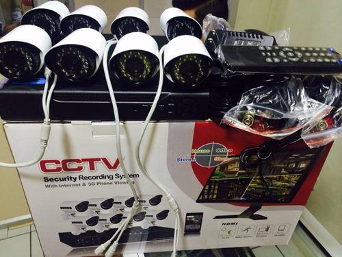 kit seguridad dvr 8 canales 3g  con 8 camaras interior o ext