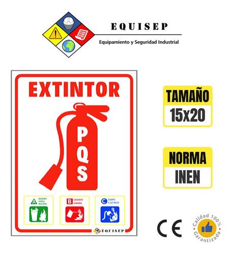 kit seguridad | extintor pqs-abc 10 lb + señalética 15x20 cm