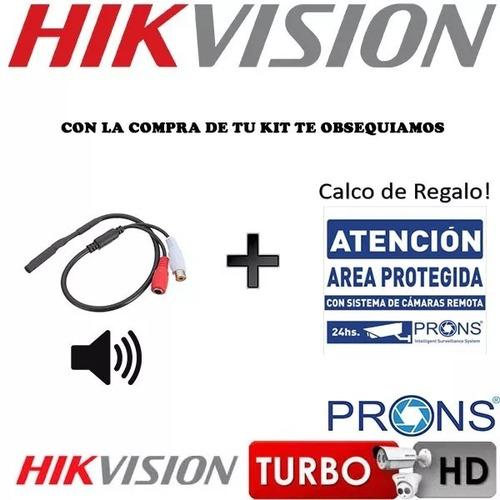 kit seguridad hikvision 10 camaras 1080p fullhd disco cuotas